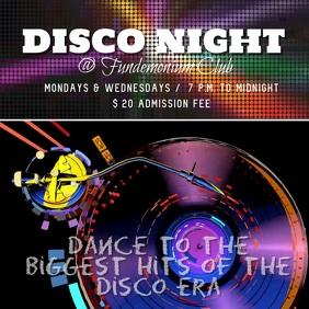 disco night template