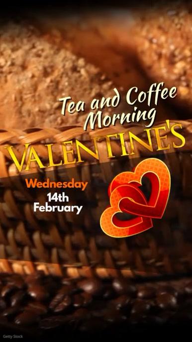 Instagram Valentine's Coffee Morning Tampilan Digital (9:16) template