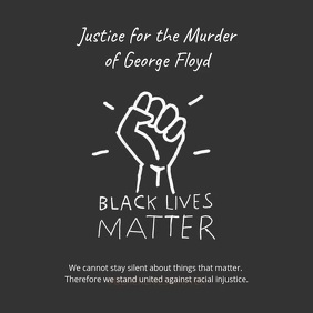 Instagram Video Post Black Lives Matter Quadrat (1:1) template