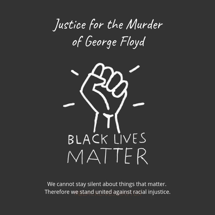 Instagram Video Post Black Lives Matter Kvadrat (1:1) template