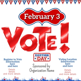 Instagram Vote Election Registration