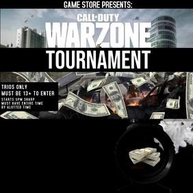 INSTAGRAM warzone tournament flyer template