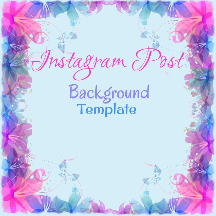 Instagram Watercolor Floral Background
