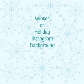Instragram Winter Holiday Christmas Backgroun