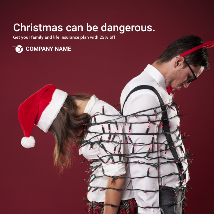 insurance advertisement for christmas Post Instagram template