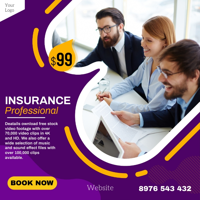 Insurance Instagram Plasing template