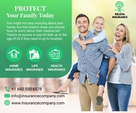 insurance flyer ideas Persegi Panjang Besar template