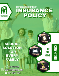 Insurance Flyer Poster Editable Template Volante (Carta US)