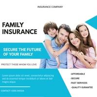 insurance flyers Instagram Post template