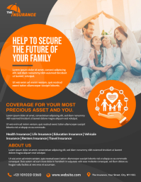 Insurance Management Company Flyer Pamflet (Letter AS) template