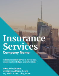 Insurance services flyer