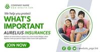 insurances professional advertising Publicité Facebook template