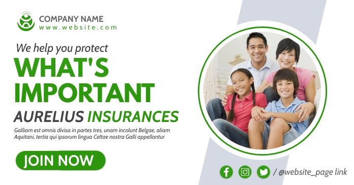 insurances professional advertising template