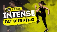 Intense Workout YouTube Channel Cover Photo template