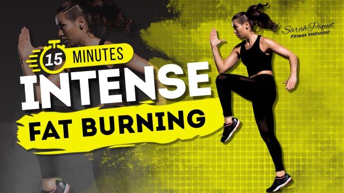 Intense Workout ภาพปก YouTube Channel template