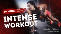 Intense workout youtube fitness thumbnail des template