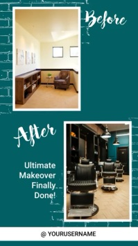 Interior before and after instagram story template