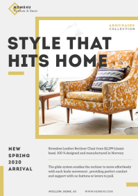 Interior Decor Furniture Magazine Ad A4 template