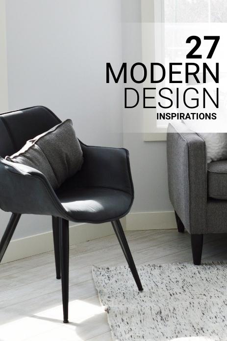 Interior Design Blog Pinterest Pin Template
