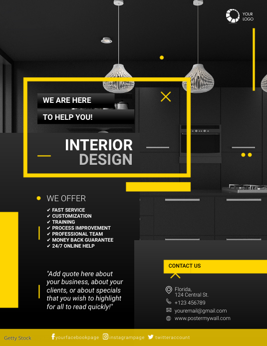 Interior Design Business Flyer Template Postermywall