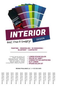 Interior Design Business Flyer Template
