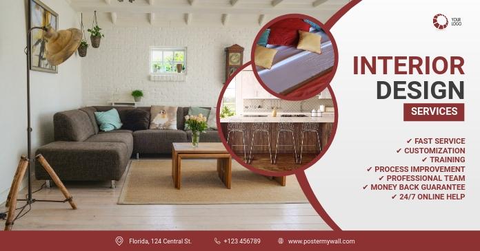 Interior Design Facebook Cover Template