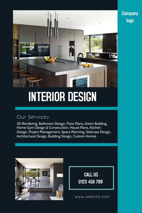 interior design flyer template
