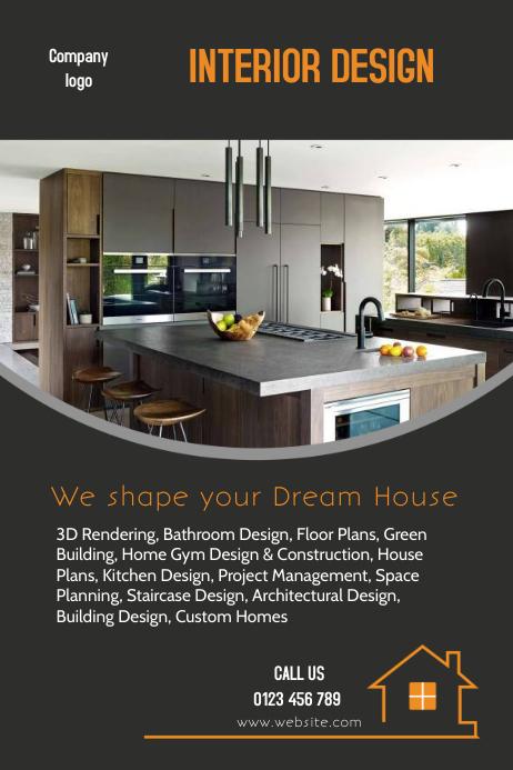 interior design flyers template