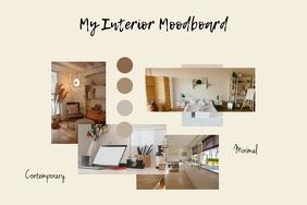 Interior Design Minimal Moodboard Poster Temp template