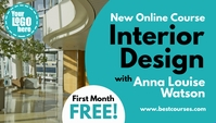 Interior Design Online Course blog header template