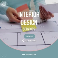 Interior Design Services Video Ad Quadrado (1:1) template