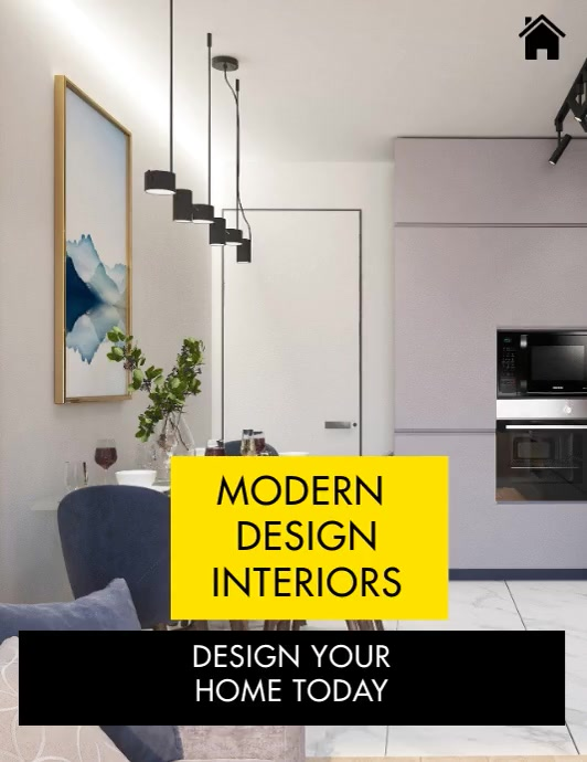 INTERIOR DESIGN SLIDESHOW Flyer (Letter pang-US) template