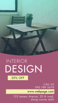 INTERIOR DESIGN Digitale Vertoning (9:16) template