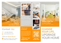 interior design trifold brochure advertisemen A4 template