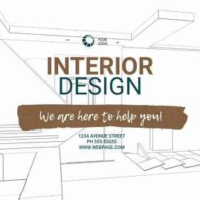 Interior Design Video Ad Template Square (1:1)