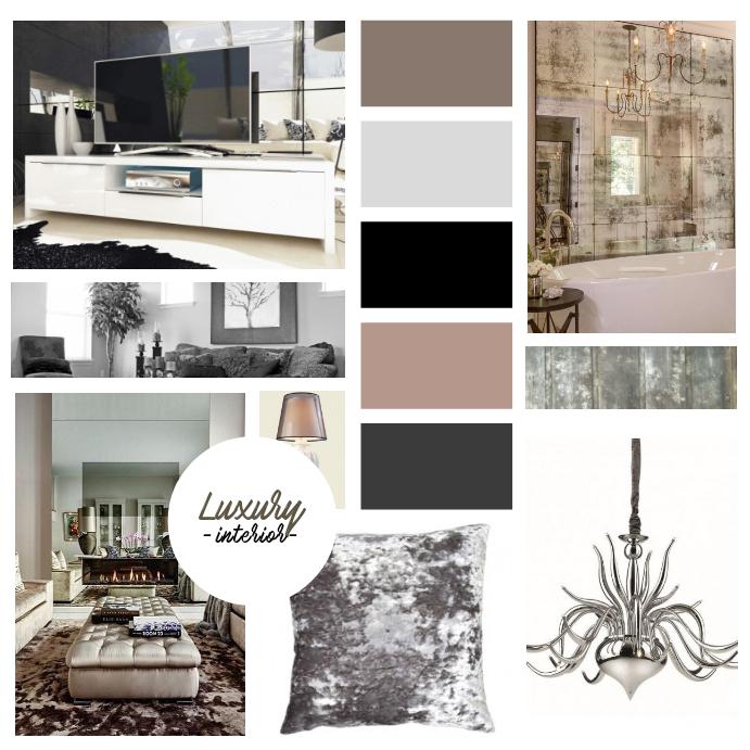 Interior designer mood board template for instagram for Interior design moodboard
