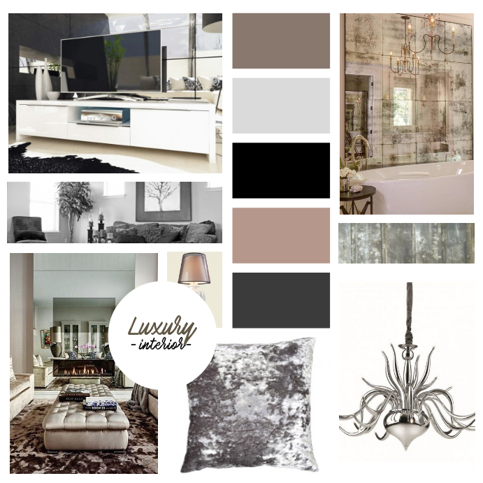 Interior Designer Mood board template for instagram