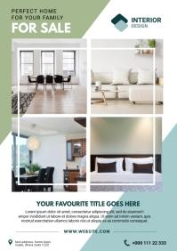 Interior desing flyer A4 template