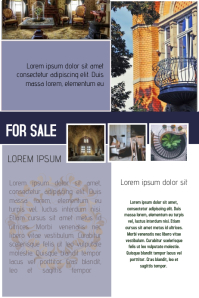 interior house for sale real estate flyer template blue โปสเตอร์