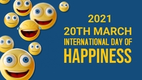 Intermational day of happiness Blog overskrift template