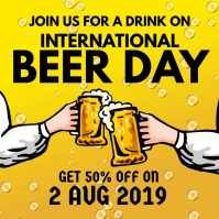 International Beer Day Square (1:1) template