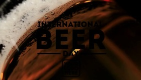 International Beer Day Template Видеообложка профиля Facebook (16:9)