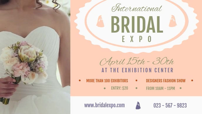 International Bridal Expo Exhibition Facebook Cover Video template