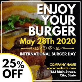 International burger day 2020 Pos Instagram template