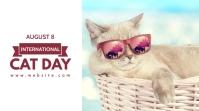 International cat day Message Twitter template
