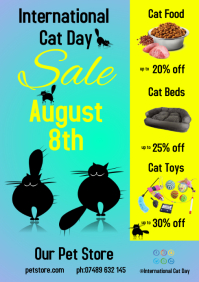International Cat Day Flyer