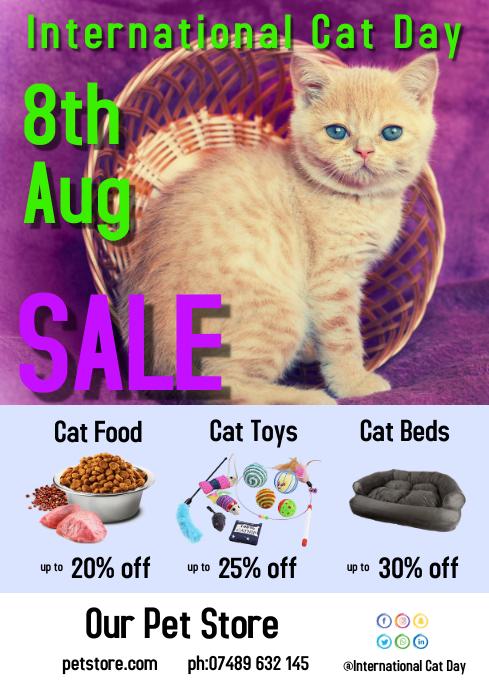 International Cat Day Flyer