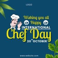 International Chef Day Publicação no Instagram template
