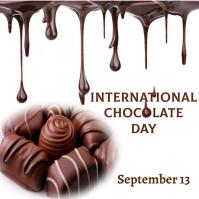 international chocolate day Publicación de Instagram template