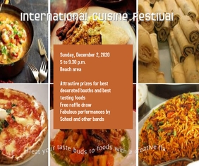 International Cuisine Festival Stort rektangel template